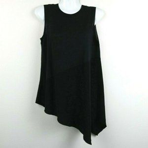 Vera Wang Womens Blouse Asymmetrical Sleeveless